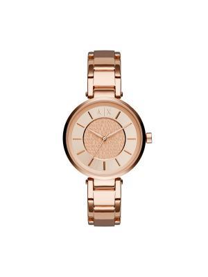 Часы Armani Exchange. Цвет: золотистый, розовый, серебристый