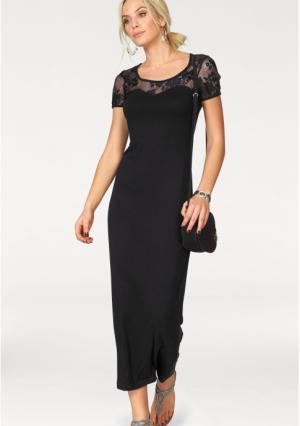 Платье макси MELROSE. Цвет: черный
