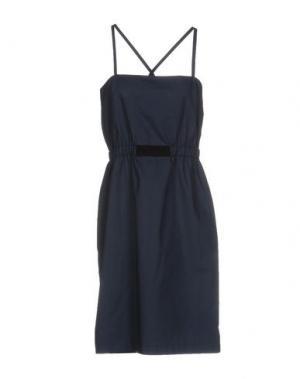 Платье до колена LES PRAIRIES DE PARIS. Цвет: темно-синий