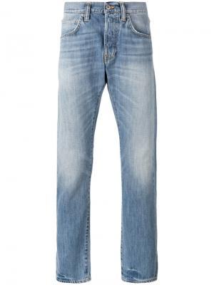 Классические прямые джинсы Edwin. Цвет: синий