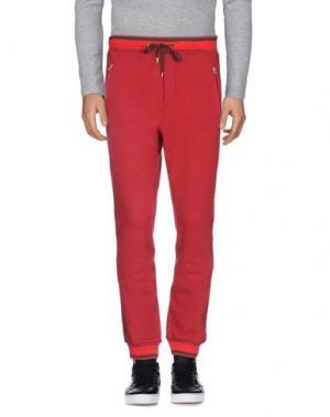 Повседневные брюки UMIT BENAN. Цвет: красно-коричневый