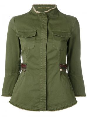 Куртка на пуговицах Bazar Deluxe. Цвет: зелёный