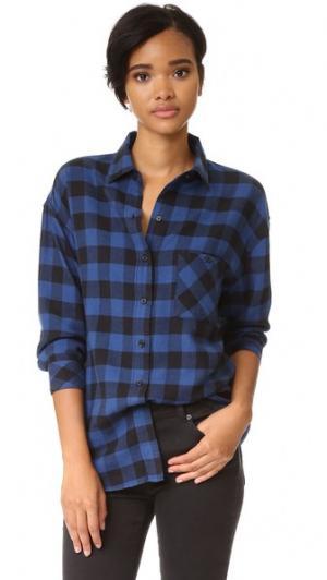 Рубашка с пуговицами Jackson RAILS. Цвет: синий/черная клетка