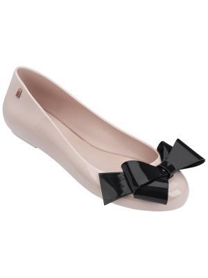 Балетки Melissa. Цвет: бледно-розовый, черный