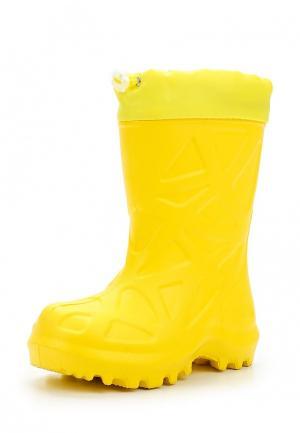 Резиновые сапоги Каури. Цвет: желтый