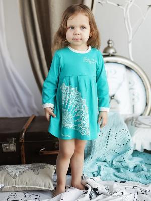 Платье Lucky Child. Цвет: зеленый