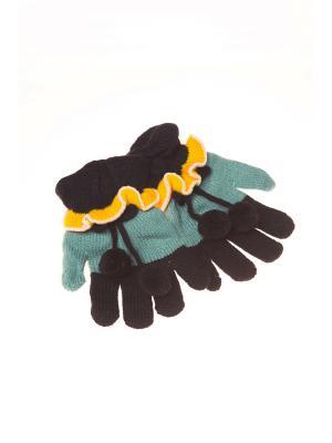 Перчатки Shapkoff. Цвет: зеленый, черный