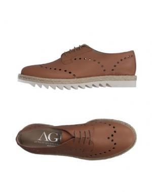 Обувь на шнурках AGL ATTILIO GIUSTI LEOMBRUNI. Цвет: верблюжий