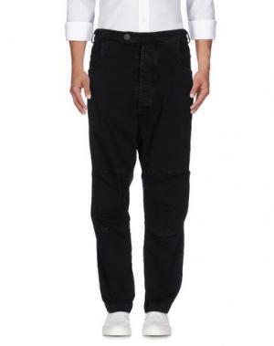Джинсовые брюки NOSTRASANTISSIMA. Цвет: черный