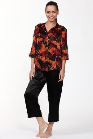 Пижама: брюки и рубашка Del Fiore. Цвет: черный