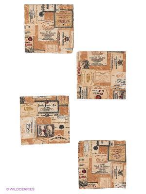 Комплект салфеток Vinum40х40 см T&I. Цвет: коричневый