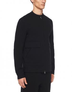 Хлопковая куртка Helmut Lang. Цвет: черный