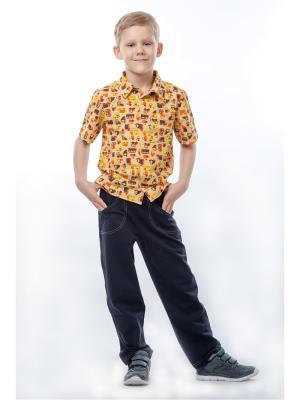 Рубашка  для мальчика ТОДЕКС. Цвет: коричневый, оранжевый, темно-бежевый