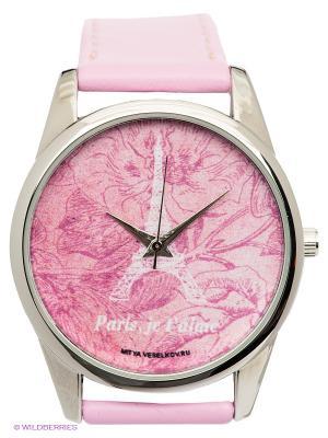 Часы Mitya Veselkov. Цвет: сиреневый