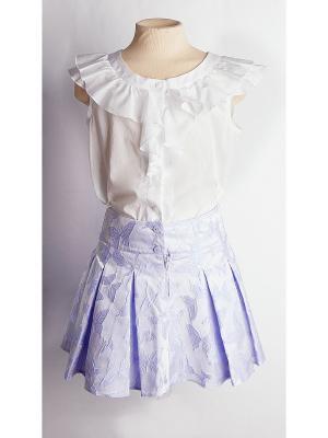 Блузка Карамелли. Цвет: белый