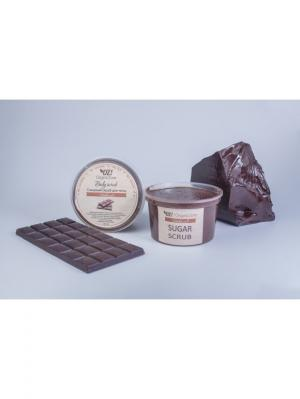 Сахарный скраб для тела Шоколад OrganicZone. Цвет: коричневый