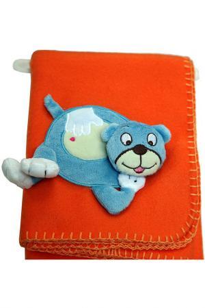 Плед детский Медвежонок Daily. Цвет: оранжевый