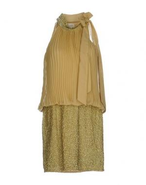 Короткое платье MUSANI COUTURE. Цвет: золотистый