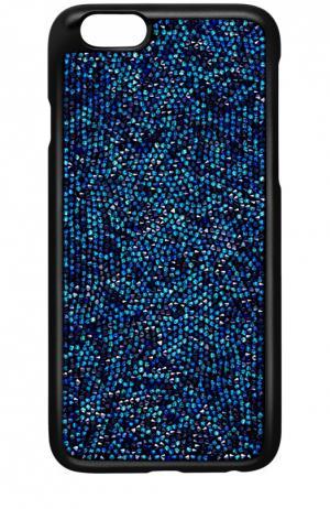 Чехол Glam Rock для iPhone 6/6S Swarovski. Цвет: синий