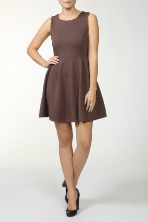 Стандартное офисное платье Fullah Sugah. Цвет: коричневый