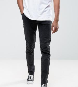 ASOS Черные выбеленные джинсы скинни TALL. Цвет: черный