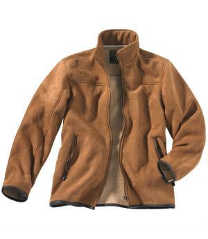 Куртка из Искусственой Замши AFM. Цвет: коричневыи