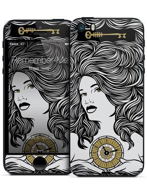 Наклейка для iPhone 5/5S Remember Me - El Jefe Design Gelaskins. Цвет: черный, светло-серый