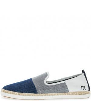 Синие эспадрильи с текстильной стелькой Pepe Jeans. Цвет: синий