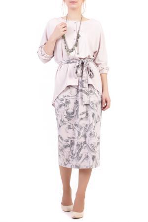 Костюм: блуза, юбка Adzhedo. Цвет: светло-розовый, борзый