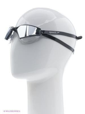 Очки для плавания Speedo. Цвет: черный, серебристый
