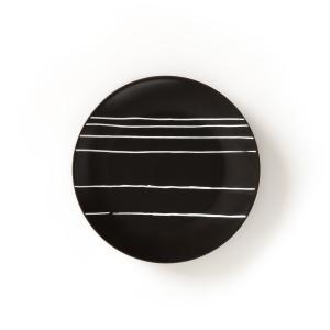 4 тарелки десертные, TADSIT La Redoute Interieurs. Цвет: наб. рисунок черный/ белый