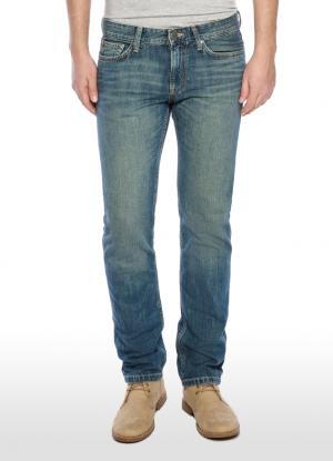 Зауженные джинсы slim с потертостями OSTIN