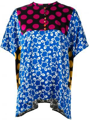 Блузка лоскутного кроя Duro Olowu. Цвет: многоцветный