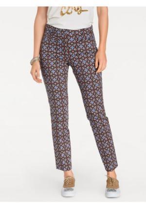 Моделирующие брюки ASHLEY BROOKE by Heine. Цвет: коньячный/синий