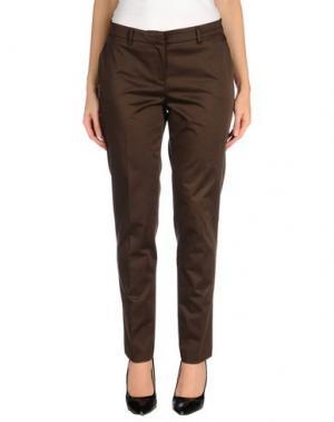 Повседневные брюки ANNA RACHELE. Цвет: темно-коричневый