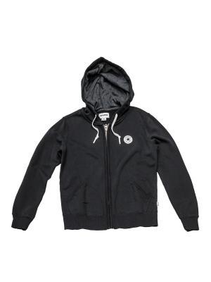 Толстовка Knitted womens LS zip hoodie Converse. Цвет: черный