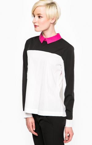 Рубашка POIS. Цвет: белый