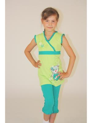 Комплект для девочек Милослава. Цвет: салатовый, бирюзовый