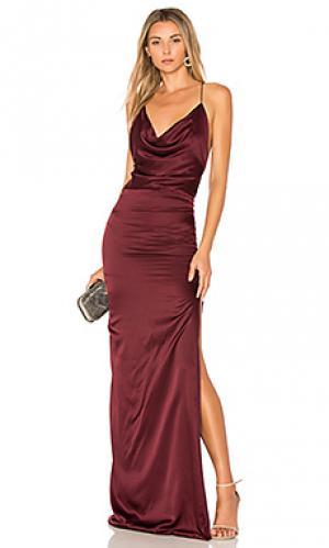 Шелковое вечернее платье d dupey Gemeli Power. Цвет: вишня