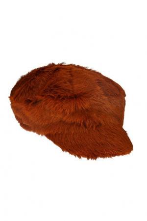 Меховая кепка Prada. Цвет: оранжевый