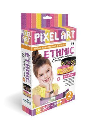Origami. Набор для создания браслетов Ethnic в коробке, 2 браслета. Чудо-творчество. Цвет: черный, розовый, светло-желтый