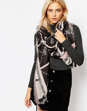 Becksondergaard Oversize-шарф Yao. Цвет: светло-розовый
