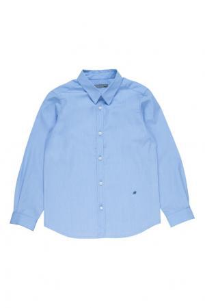 Синяя хлопковая рубашка ACTEUR Bonpoint. Цвет: синий