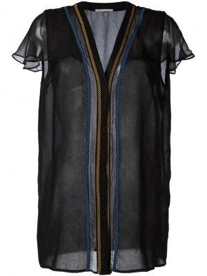 Блузка с V-образным вырезом Marco De Vincenzo. Цвет: чёрный