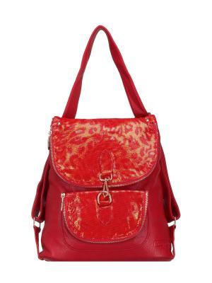 Рюкзак женский Fika Montino. Цвет: красный
