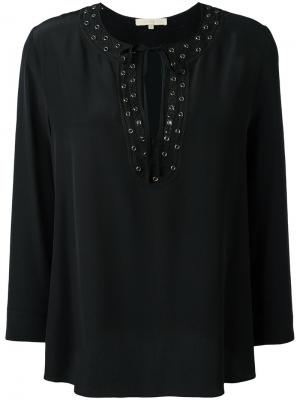 Блузка с отделкой люверсами Vanessa Bruno. Цвет: чёрный