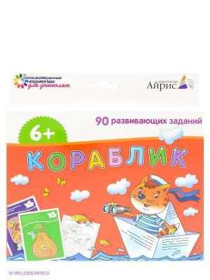 Набор занимательных карточек для дошколят. Кораблик АЙРИС-пресс. Цвет: красный