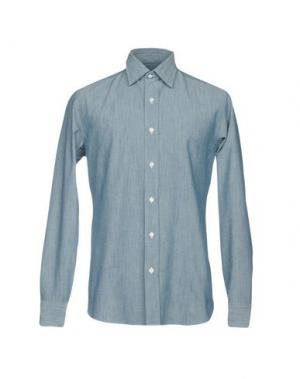 Pубашка SALVATORE PICCOLO. Цвет: синий