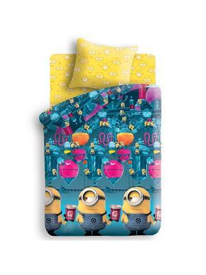 Комплект постельного белья 1,5 бязь Фабрика Миньоны. Цвет: желтый