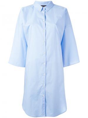 Объемная рубашка Ter Et Bantine. Цвет: синий